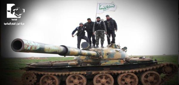 Fighters from Ahrar al-Sham, the largest component of the Islamic Front alliance of rebel groups