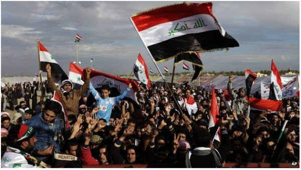 Maliki's alienation of Iraqi Sunnis has resulted in protests across Anbar (courtesy AP).