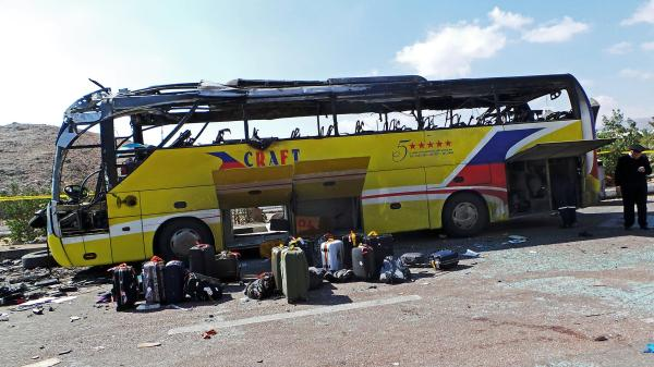 Ansar Bayt al-Maqdis has declared war on Egypt's tourism industry and attacked a tourist bus, killing three, on February 16th (Credit: AP).