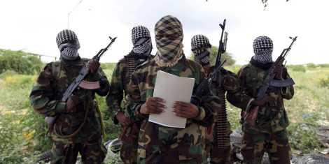 Al Shabaab's military spokesman, Sheik Abdul Asis Abu Muscab, issues a statement south of Mogadishu Oct. 19, 2011, during the AMISOM incursion into Somalia (Credit: Reuters)