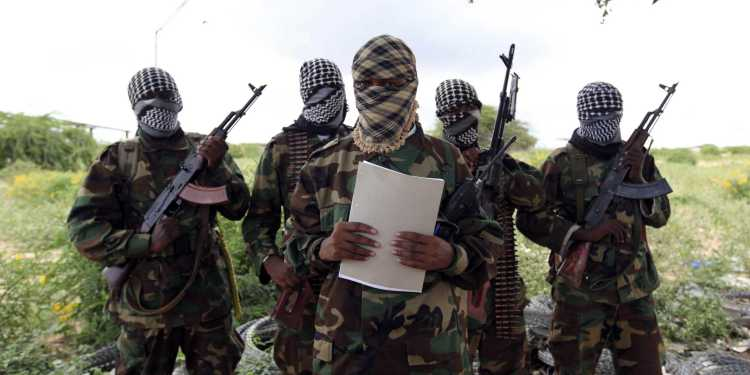 Al Shabaab's military spokesman, Sheik Abdul Asis Abu Muscab, issues a statement south of Mogadishu Oct. 19, 2011, during the AMISOM incursion into Somalia (Credit: Reuters)
